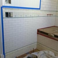 Before and After: South Wall Grout